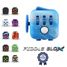 Premium Fidget Cube Toy for Stress Relief ADHD  Get the Original 6 Features Fidgeting Toy That Lasts by Fiddle Blox  Sensory AntiAnxiety Hands Dice for Kids  Adults for the Office or Classroom ** You can get more details by clicking on the image.