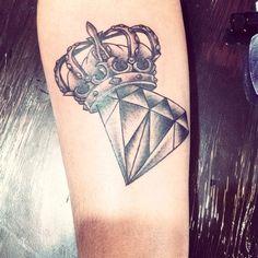 Diamante   coroa | Tattoos | Pinterest