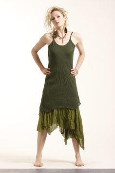 Pixie dress with uneven hem £31.99 by GEKKO BOHOTIQUE  Goa Trance,Steampunk,Psytrance,Hippie,Boho,Tribal festival clothing. Pocket belts, hats and wrists Warmers.Come visit our shops in Camden and Greenwich Markets