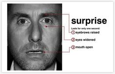 Micro expressions: Your face doesn't lie.