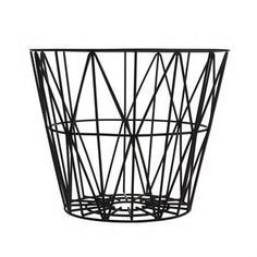 The Wire basket from Ferm Living is perfect to store firewood, blankets, cushions or magazines in. This multifunctional basket is perfect to have anywhere in the house. Available in different sizes.
