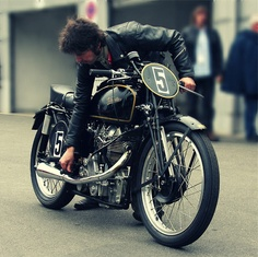 """Girder forks 500 cc single makes this """"Old School"""", - lots of fun and you can do the """"ton""""."""