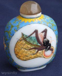 Japanese hand painted porcelain perfume bottles