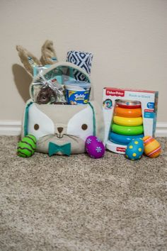 Babys 1st easter basket easter pinterest easter baskets with easter coming up this weekend i wanted to create an easter basket for mason even though hes an infant negle Gallery