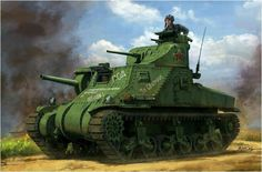 M3 lee of Red  Army