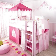 22 decorate your bedroom mirror with faux flowers 00111 Bed For Girls Room, Cool Kids Bedrooms, Kids Bedroom Designs, Little Girl Rooms, Girls Bedroom, Bedroom Decor, Princess Bedrooms, Princess Room, Toddler Rooms