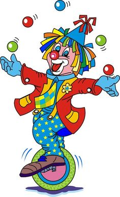 clowns Circus Art, Circus Clown, Circus Theme, Clown Images, Clown Crafts, Clown Party, Cute Clown, Baby Applique, Birthday Clipart