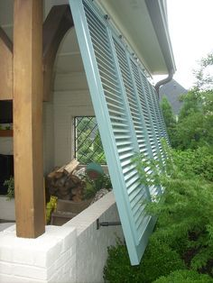 Bermuda shutters on a porch.