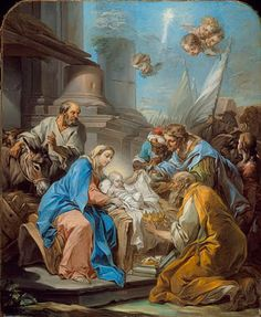 Heart of a Ready Writer: 2. Nativity Attendees – Angelic and Mortal. ART: Adoration of the Magi, by Charles-Andre van Loo, c1760