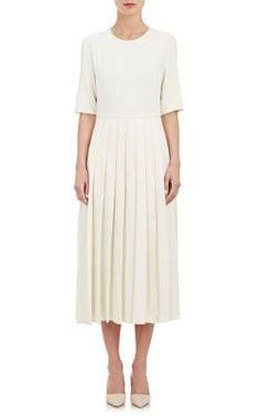 Brock Collection Crepe Pleated Midi Dress at Barneys New York