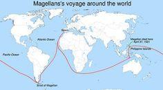 magalhaes maakte in 1519 een reis om de wereld