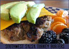 Give these juicy & flavorful Southwest salsa turkey burgers a try the next time you're looking for a different take on your basic burgers: This 25 minute weeknight dinner recipe is super simple, and comes together in a flash! Quick Recipes, Healthy Dinner Recipes, Grilling Recipes, Cooking Recipes, Aldi Meal Plan, Burger Toppings, Turkey Burgers, Kid Friendly Dinner, Dinner Is Served