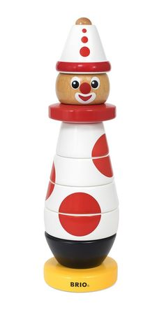 BRIO wooden Stacking Clown, the concept for which has been around for 60 years (must have proved popular with children then)! Camping Toys, Camping Set, Clowns, Brio Toys, Sensory Blocks, 60 Year Anniversary, Es Der Clown, Stacking Toys, Old Toys