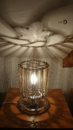 Lamp made from old reused bicycle parts 3 discs by ManufakturacdR, $120.00
