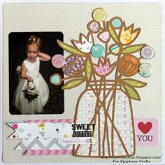 #scrapbook #layout created with the #epiphanycrafts Shape Studio Tools. #wedding