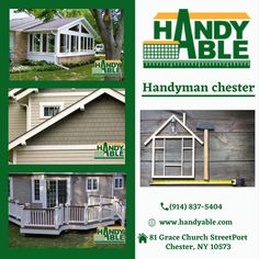 HANDYABLE IS YOUR ONE-STOP CONTRACTOR FOR EVERY AREA OF YOUR HOME. WE OFFER A WIDE-RANGE OF MATERIAL OPTIONS FROM LUMBER TO TRIMMING, PAINT TYPE TO STONE, HANDYABLE CAN MEET ALL OF YOUR HOME PROJECT NEEDS. Carpentry Services, Home Repair Services, Paint Types, Construction Services, Home Projects, Home Remodeling, Shed, Deck, Outdoor Structures