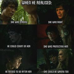 Season 1: when he realised... . . . #the100season1 #the100 #bellarke…