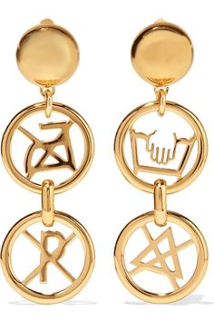Shop on-sale Moschino Gold-tone earrings. Browse other discount designer Jewelry & more on The Most Fashionable Fashion Outlet, THE OUTNET.COM