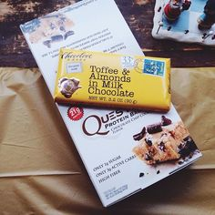 My package from @julsjoys came in today! #chocolatechipcookiedough #questbars, and this cute chocolate bar ☺️ thank you so, so much! #edrecovery #eatingdisorderrecovery #marenfeaturefriday #Padgram