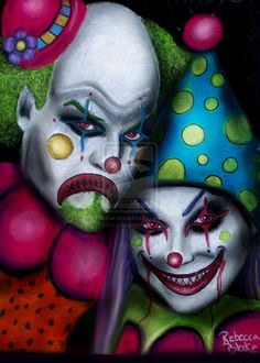 clowns | scary clowns by Pixie-Lyrique