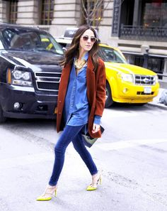 The Best Jeans & Shoe Combinations For Spring via @WhoWhatWear