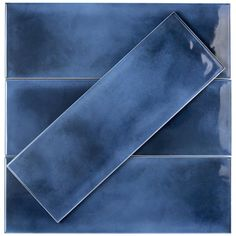 Ivy Hill Tile Piston Camp Blue 4 in. x 12 in. / - The Home Depot Ivy Hill Tile Piston Camp Blue 4 in. x 12 in. Glazed Ceramic Subway Wall Tile s Glazed Ceramic Tile, Glazed Tiles, Ceramic Subway Tile, Blue Subway Tile, Blue Tiles, Blue Bathroom Tiles, Blue Bathrooms, Hall Bathroom, Master Bathroom