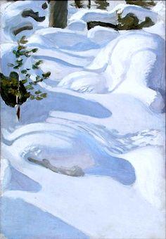 Akseli Gallen-Kallela - Sunshine on Snow, oil on canvas, Finnish National Gallery, Helsinki Abstract Landscape, Landscape Paintings, Abstract Art, Scandinavian Paintings, August Sander, Albert Bierstadt, Nordic Art, Winter Painting, Winter Trees