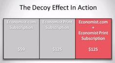 termék árazás - decoy effect