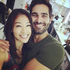 """ arden_cho: Had so much fun shooting the finale. Late nights on set but we're still cheeeesin! #teenwolf """