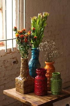 Vases by At West End...love this idea for our wedding in the colors of our wedding.