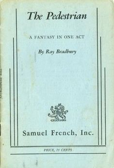 Arcadia play tom stoppard books i love pinterest books the pedestrian a fantasy in one act by ray bradbury fandeluxe Choice Image