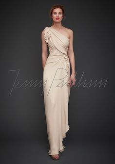 Jenny Packham AD-136L_1. I like how the skirt flows at its hem. The top is a bit too bunched up and layered for my tastes.