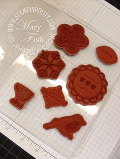wood mount stamps with cling foam to make them clear mount stamps! gr8 storage idea from Mary Fish