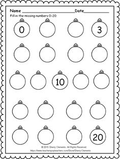 Christmas Worksheets, Christmas Math, Preschool Christmas, Math Lessons, Math Skills, Math Resources, Math Activities, Kindergarten Classroom, Classroom Freebies