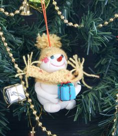 Items similar to Snowman toy for a Christmas tree, polymer clay, height 10 cm. crochet, christmas lights collection on Etsy Christmas Lights, Christmas Tree, Christmas Ornaments, Christmas Ideas, Handmade Christmas, Crochet Christmas, Crochet Scarves, Snowman, Polymer Clay