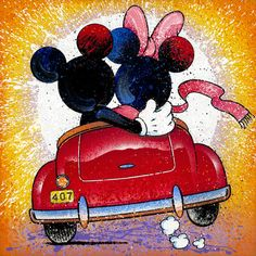 Mickey Mouse Backseat Driver David Willardson Disney NEW Paper LE 50 Minnie Walt Disney, Disney Magic, Disney Mickey, Mickey Mouse Wallpaper, Disney Wallpaper, Mickey Mouse And Friends, Mickey Minnie Mouse, Mickey Mouse Imagenes, Retro Disney