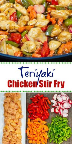 Teriyaki Chicken Stir Fry is a fast, easy, delicious dinner that can be on the table in 20 minutes. Teriyaki Chicken Stir Fry is a fast, easy, delicious dinner that can be on the table in 20 minutes. Fast Dinner Recipes, Fast Dinners, Easy Meals, Fast Easy Dinner, Healthy Chicken Recipes, Asian Recipes, Chinese Recipes, Healthy Foods, Healthy Eating