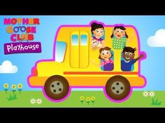 Wheels on the Bus - Mother Goose Club Playhouse Kid Video Kids Nursery Rhymes, Rhymes For Kids, Youtube Videos For Kids, Kids Videos, Little Mermaid Cakes, Wheels On The Bus, Cute Funny Babies, Mother Goose, Diy Ribbon