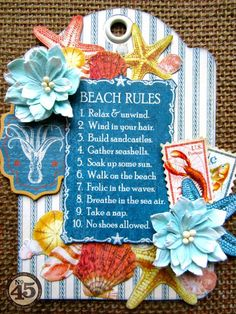 Love this tag using By the Sea by Maria Cole #graphic45 #tags