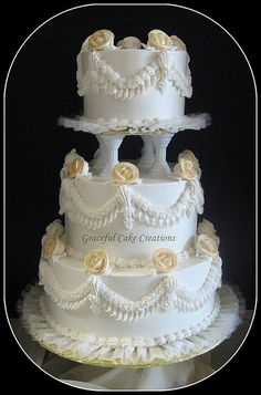 50th Golden Wedding Anniversary by Graceful Cake Creations, via Flickr