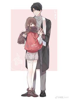 Anime Cupples, Anime Chibi, Kawaii Anime, Anime Guys, Manga Couple, Anime Love Couple, Anime Couples Drawings, Anime Couples Manga, Jumin X Mc