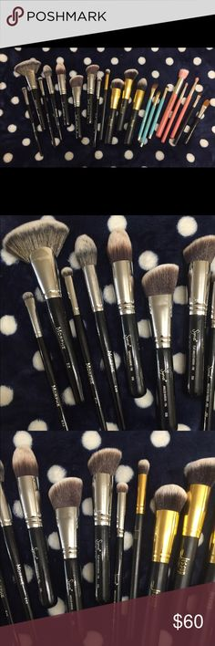 20 Makeup Beushes- Sigma, Morphe, Sonia Kashuk.. This is a nice mix of makeup brushes. Some have been lightly used before, some new, but are all freshly washed. 4 Morphe brushes, 4 Sigma brushes, 4 Jessup brushes (similar to Sigma quality), 3 Sonia Kashuk eye brushes, 3 Bdellium tools brushes, and two misc brushes. Please see pics for brush shapes. If you bought all new online, it would def cost a lot more. Not a bad value considering the mix here! It's priced 3 dollars a brush, awesome…