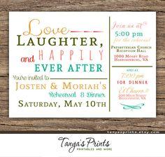 Rehearsal Dinner DIY Printable Invitation  Love by TanyasPrints, $12.95