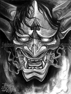 Asian Oni Devil Mask Tattoo photo - 1