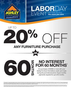 Exceptional Labor Day Event Going On Right Now At #AshleyFurniture In Richland WA.  August 20. September 2Furniture SaleSale ...