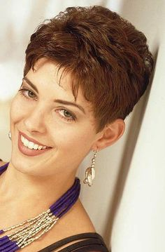 HAIRXSTATIC: Crops Best Picture For punk hair illustration For Your Taste You are looking for someth Short Permed Hair, Short Grey Hair, Very Short Hair, Cute Hairstyles For Short Hair, Pixie Hairstyles, Curly Hair Styles, Pixie Haircuts, Hair Styles For Women Over 50, Short Hair Cuts For Women