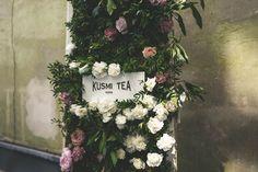 Flowerwindow for Kusmi tea Handmade Flowers, Flower Crown, Flower Decorations, Floral Wreath, Wreaths, Bride, Wedding, Crown Flower, Wedding Bride