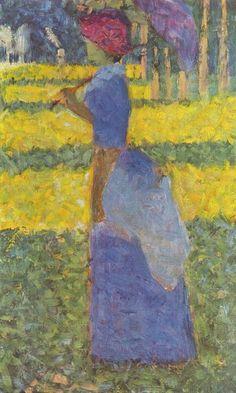 george seraut | Georges Seurat, studio di donna con ombrellino, particolare per La ...