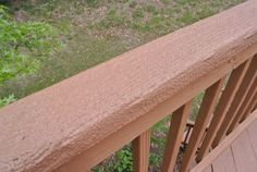 rust oleum deck restore d our deck, decks, diy, how to, You can back brush the second coat for a smoother texture Faux Brick Panels, Brick Paneling, Rustoleum Deck Restore, Deck Refinishing, Outdoor Projects, Outdoor Decor, Outdoor Ideas, Diy Projects, Old Shutters