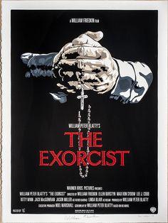 The Exorcist Horror Movie Poster Fan Art Horror Movie Posters, Cinema Posters, Horror Movies, Music Posters, Exorcist Movie, The Exorcist, Linda Blair, Best Movie Posters, Movie Poster Art